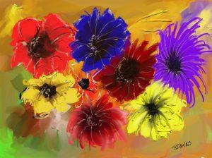 Abstract Flowers - Digital Artwork